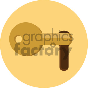 key in lock circle background vector flat icon clipart. Royalty-free icon # 405883