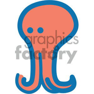 octopus ocean icon clipart. Royalty-free image # 405915