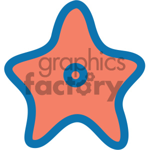 starfish ocean icon clipart. Commercial use image # 405936