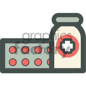 pills medical vector icon clipart. Royalty-free image # 405956