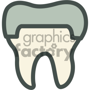 capped tooth dental vector flat icon designs clipart. Royalty-free image # 405965