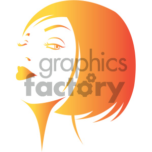women face vector illustration clipart. Royalty-free image # 405991
