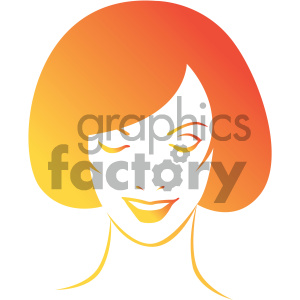 women head vector illustration clipart. Royalty-free image # 406015