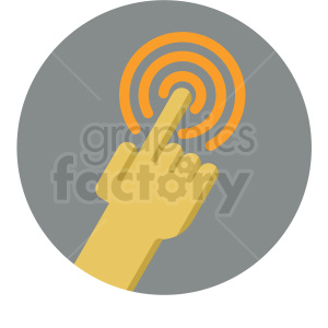 touch icon with grey circle background clipart. Royalty-free image # 406028