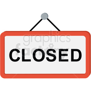 closed sign icon clipart. Royalty-free image # 406051