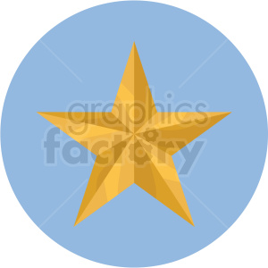 star icon with blue circle background clipart. Royalty-free icon # 406081