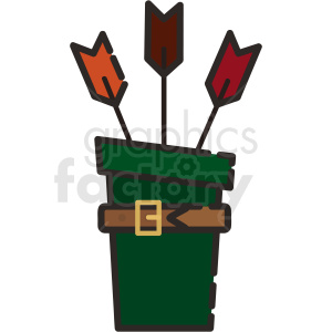 quiver vector icon art clipart. Commercial use image # 406099