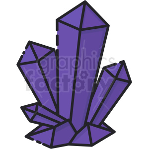 crystals vector icon art clipart. Royalty-free icon # 406111