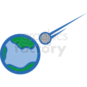 asteroid heading towards earth vector icon clipart. Royalty-free image # 406224