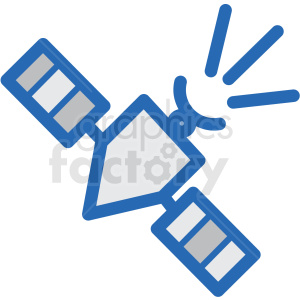 satellite vector icon clipart. Royalty-free image # 406239