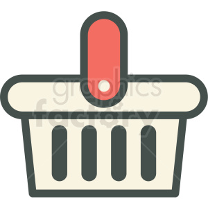 shopping basket vector icon clip art clipart. Royalty-free image # 406246