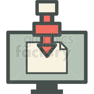 computer controlled manufacturing icon clipart. Commercial use image # 406276