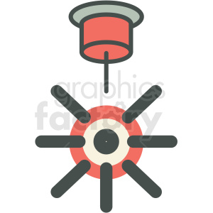 laser beam machine manufacturing icon clipart. Royalty-free image # 406277