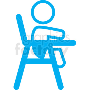 baby in high chair icon clipart. Royalty-free image # 406349