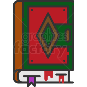 magic spell book vector icon clipart. Commercial use image # 406356