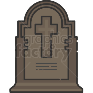 tombstone vector icon art clipart. Royalty-free image # 406358