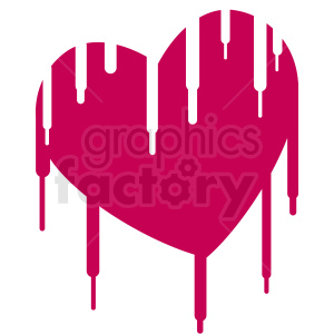 melting heart vector design
