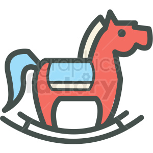 rocking horse vector icon clipart. Commercial use image # 406402
