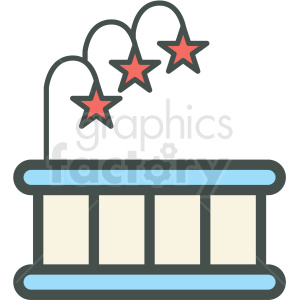 hot tub vector icon clipart. Royalty-free image # 406416