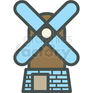 windmill vector icon clipart. Royalty-free icon # 406430