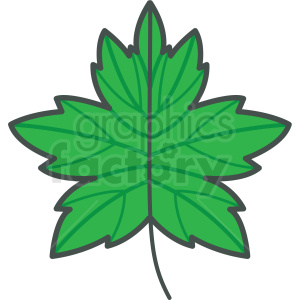 green leaf vector icon clipart. Royalty-free icon # 406446
