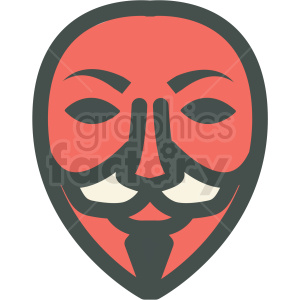 guy fawkes anonymous mask vector icon image clipart. Commercial use image # 406511