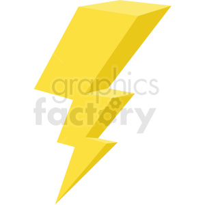 lightning vector flat icon clipart with no background clipart. Royalty-free image # 406666