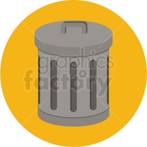 trash can vector flat icon clipart with circle background clipart. Royalty-free image # 406669
