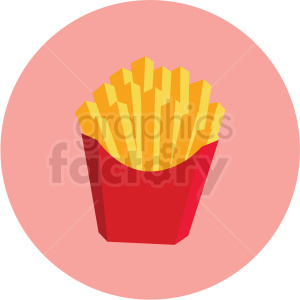french fries vector flat icon clipart with circle background clipart. Commercial use image # 406714