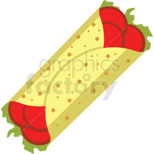burrito vector flat icon clipart with no background