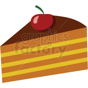 slice of cake vector flat icon clipart with no background clipart. Royalty-free image # 406748