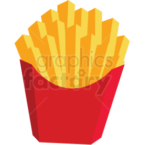 french fries vector flat icon clipart with no background clipart. Commercial use image # 406756