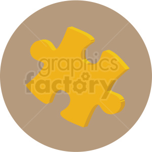 puzzle piece vector flat icon clipart with circle background clipart. Royalty-free image # 406769