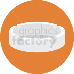 ashtray vector flat icon clipart with circle background