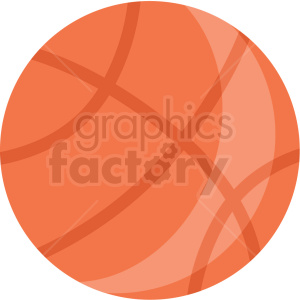 basketball vector flat icon clipart with no background