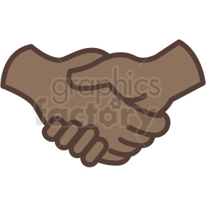 african american handshake vector icon clipart. Commercial use image # 406777
