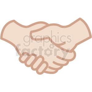white hands handshake vector icon clipart. Royalty-free image # 406779