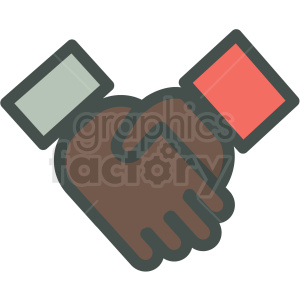 african american handshake agreement vector icon clipart. Commercial use image # 406866
