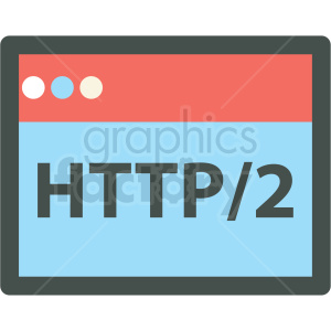 http 2 web hosting vector icons