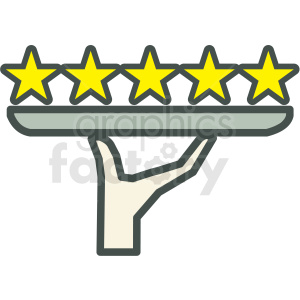 5 star rating vector icon