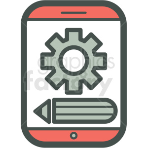 settings smart device vector icon clipart. Commercial use image # 406877
