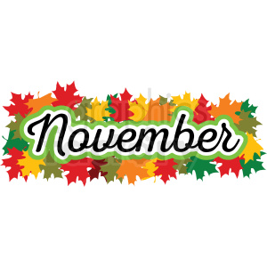 november header vector label clipart. Royalty-free image # 406950