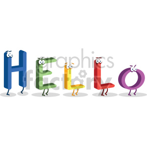 Hello word characters no background clipart. Royalty-free image # 407071