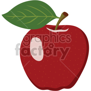 apple flat icon clip art clipart. Royalty-free icon # 407145