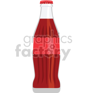 soda pop glass bottle flat icons clipart. Royalty-free icon # 407163