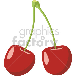 cherries flat icon clip art clipart. Royalty-free icon # 407185