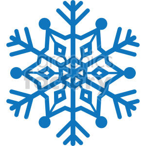 navy blue snowflake vector rf clip art clipart. Commercial use image # 407202