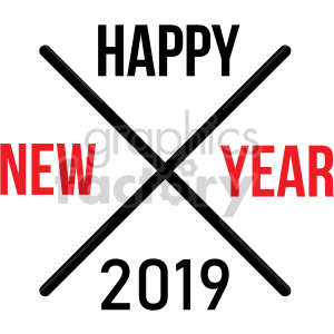 happy new year 2019 cross clipart. Commercial use image # 407219