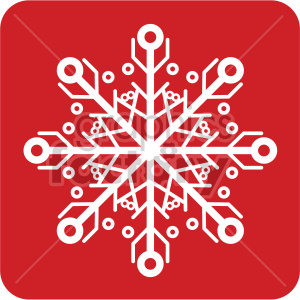 white snowflake vector icon clipart. Royalty-free image # 407239