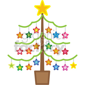 christmas tree vector icon clipart. Commercial use image # 407246